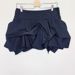 Black and White Pin Striped Ruffle Bebe Skirt - 4